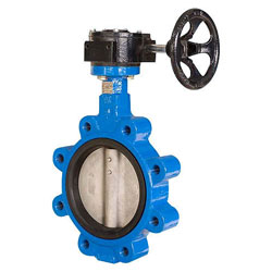 pfa lined Carbon Steel Double Offset Butterfly Valve