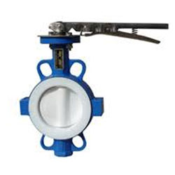 PFA Stainless Steel Wafer Type Butterfly Valve