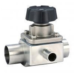 PTFE LINED A216 Gr. WCB 3 Way Diaphragm Valve