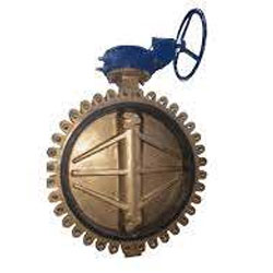 Brass Rubber Lined Double Eccentric Butterfly Valve