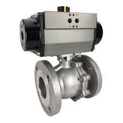 CF8M Stainless Steel Air Actuated Ball Valve